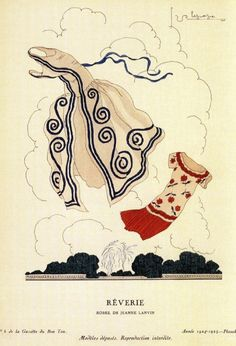 Circa 1924 - Jeanne Lanvin dresses by Georges Lepape