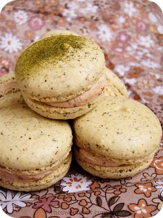 Tea | The Sweet Spot - Green Tea Macaron with Red Bean French Buttercream