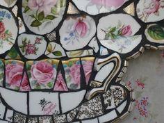 Love this tea cup mosaic!