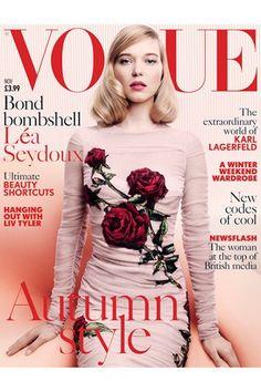Lea Seydoux British Vogue Cover Bond Girl November Issue (Vogue.co.uk)
