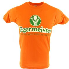 42097e5af Vintage Jagermeister Liquor T-shirt XXS Deadstock Orange Tight Promo