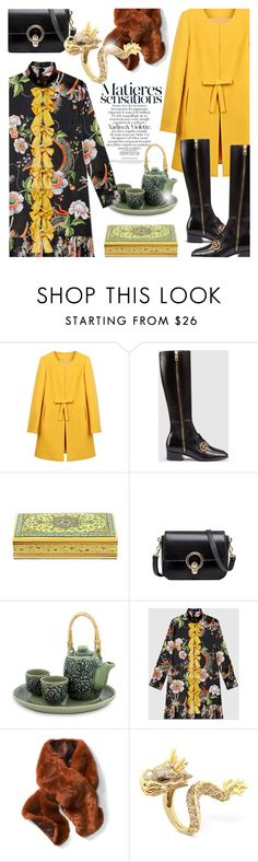 """Dragons"" by cilita-d ❤ liked on Polyvore featuring Gucci, NOVICA, Banana Republic and Effy Jewelry"