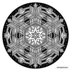 Mandala drawing number 35.. Staedtler and Copic pens on a 60x60cm bristol board