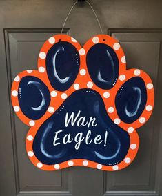 Your place to buy and sell all things handmade Wooden Door Hangers, Wooden Doors, Wooden Signs, Wood Crafts, Diy Crafts, Burlap Signs, Painted Doors, Vinyl Lettering, Silhouette Projects