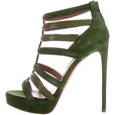 47eeff0d2f16 Pre-owned Ala a Stingray Suede Cage Sandals (2.170 RON) ❤ liked
