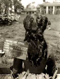 Hair test for Vivien Leigh in Gone With the Wind
