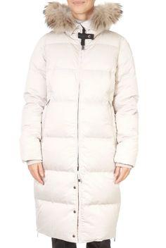 'Jemma' Long White Puffer Coat | Jessimara