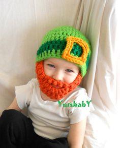 Irish Leprechaun Beard Hat Saint Patricks Day Kiss Me I'm Irish Bearded Beanie on Etsy, $19.95