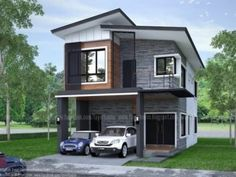 Modern Bungalow House Design With Three Bedrooms - Ulric Home Two Storey House Plans, One Storey House, 2 Storey House Design, Small House Plans, House Roof Design, Simple House Design, Modern House Design, Modern Bungalow House Plans, Bungalow Haus Design