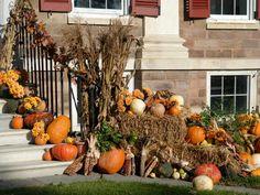 Fall Yard Decor, Fall Home Decor, Thanksgiving Decorations, Halloween Decorations, Autumn Decorating, Decorating Ideas, Porch Decorating, Outside Decorations, Front Door Decor