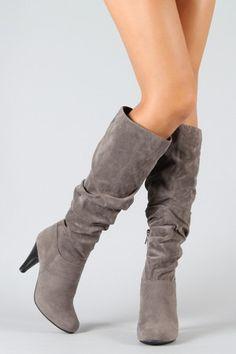 4cf9de9a451 Bamboo Valencia-05 Suede Slouchy Knee High Boot