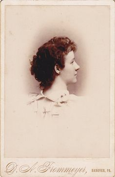 An elegant back and side profile portrait of a lovely young Victorian woman. #Victorian #portrait #1800s #women