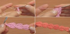 How to Crochet a String of Hearts