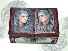 Elven king and prince  jewellery box jewellry storage