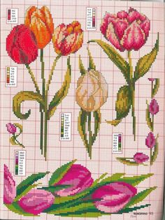 ru / Фото - 70 - kento - My site Cross Stitch Heart, Beaded Cross Stitch, Cross Stitch Flowers, Cross Stitch Embroidery, Christmas Embroidery Patterns, Rico Design, Cross Stitch Pictures, Flower Coloring Pages, Tulips Flowers