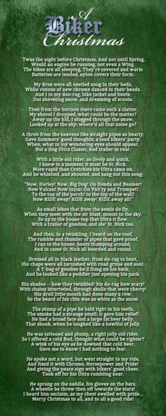 A Biker Christmas Poem this is for Mark