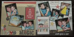Inspiring traditional scrapbook layouts for Disney scrapbookers from @Julie Fiorito