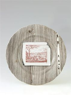 Plate decorated in the style « Niderviller » 19th C. - faïence fine / Creil, musée Gallé-Juillet