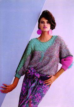 Linda Evangelista by Pierre Dawlat for Anny Blatt, 1985 1980s Fashion Trends, 80s And 90s Fashion, New Fashion, Trendy Fashion, Vintage Fashion, Fashion Outfits, 80s Disco Fashion, Style Fashion, Fashion Ideas