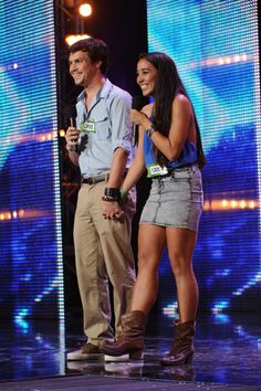 Alex and Sierra!!! I want their album already. Go watch their audition video if you haven't already!!!!