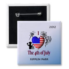 Personalize Pins I Heart the 4th of July by EyeHeart  #Redwhiteandblue #4thofjuly #independenceDayhttp://pinterest.com/elenaindolfi/zazzle-world/#