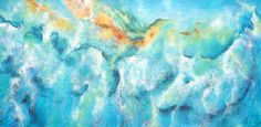 The fourth in Ocean Currents series-Cape Reinga New Zealand, abstract energy art of the merging of oceans together beyond the north island.