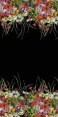 Floral by Danielle Hensby Floral Print Wallpaper, Flower Background Wallpaper, Flower Backgrounds, Wallpaper Backgrounds, Wallpapers, Flower Wall, Flower Prints, Textile Prints, Beautiful Flowers