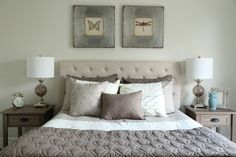Bedroom | Interior Decor | Home Staging | Neutral Decor | How to Make a Bed Interior Decorating, Interior Design, How To Make Bed, Home Staging, Home Organization, Neutral, Bedroom, Projects, Furniture