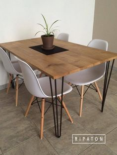 Atelier Ripaton - Hairpin Legs - www.ripaton.fr #DIY #Meuble #Furniture #Hairpin #HairpinLegs #Épingle #Design #Déco #Décoration #DoItYourself #HomeMade #FaitMain #Intérieur #PiedDeTable #Inspiration
