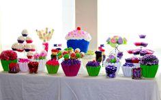 Cupcake themed dessert table