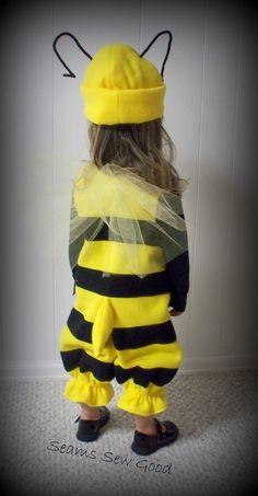 Bumble Bee traje para niño por SeamsSewGood en Etsy