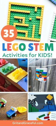 Keep the kids busy with these fun LEGO STEM activities for kids. Perfect boredom busters with hours of entertainment. Camping Activites For Kids, Indoor Activities For Kids, Stem Activities, Learning Toys For Toddlers, Scout Activities, Summer Activities, Lego For Kids, Stem For Kids, Lego Duplo