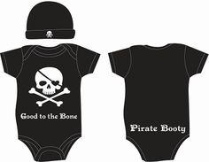 Good to the Bone / Skull & Cross Bones 2 piece baby Gift Set