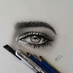 Realistic eyes drawing by waleedart http://webneel.com/40-beautiful-and-realistic-pencil-drawings-human-eyes | Design Inspiration http://webneel.com | Follow us www.pinterest.com/webneel