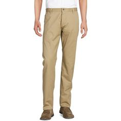 Dockers Cotton Chinos ($50) ❤ liked on Polyvore featuring men's fashion, men's clothing, men's pants, men's casual pants, beige, mens zip off pants, mens slim fit pants, mens chinos pants, mens slim fit chino pants and dockers mens pants