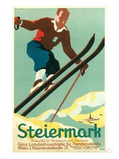 Steiermark Ski Poster Prints - AllPosters.co.uk
