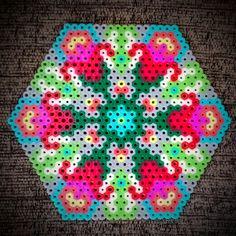 Perler Bead Floral Pattern