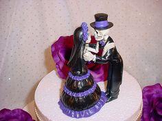 Custom Halloween Love Never Dies Bride and Groom by splendorlocity