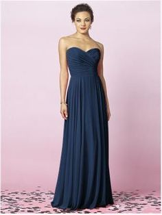 Perfect blue winter bridesmaid dress. After Six 6639 in Midnight. - this is what I am thinking for your dresses