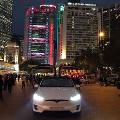 Hong Kong has become the latest Tesla hotspot. Of all the cars sold in the territory last year, nearly were Teslas, according to Bloomberg. The brand totally My Dream Car, Dream Cars, Tesla Model X, Tesla Motors, Electric Cars, Hong Kong, Super Cars, Transportation, Sustainability