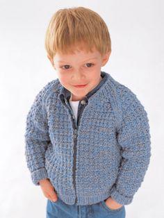 Easy Zip Jacket | Yarn | Free Knitting Patterns | Crochet Patterns | Yarnspirations