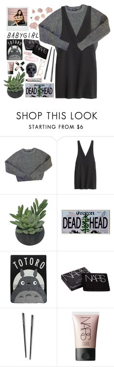 """""""Technicolour Beat"""" by hannah-gw-martin ❤ liked on Polyvore featuring American Apparel, H&M, Polaroid, Threshold, WALL, Ghibli, NARS Cosmetics and Dot & Bo"""