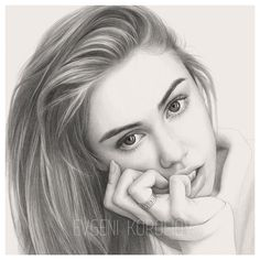 Steps for Portrait Drawing with Charcoal - Drawing On Demand Beautiful Pencil Drawings, Realistic Pencil Drawings, Girly Drawings, Pencil Art Drawings, Realistic Sketch, Portrait Au Crayon, Pencil Portrait Drawing, Portrait Sketches, Portrait Art