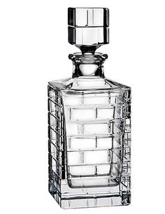 Rogaska Quoin Square Decanter