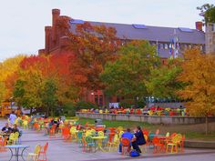 View of the Red Gym from the Terrace at UW-Madison during the fall (aka the best time in Wisconsin)
