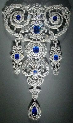 Cartier Garland Style Diamond and Sapphire Necklace