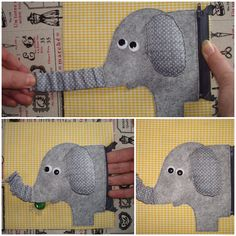 "Quiet book page ""Feed the elephant"""