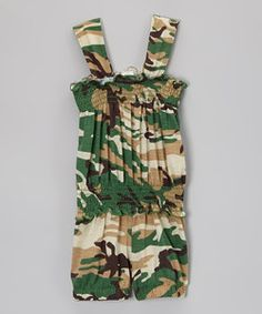 Army Green Camo Romper - Toddler & Girls | Something special every day