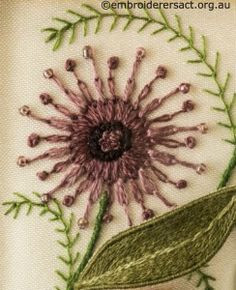 ♒ Enchanting Embroidery ♒  Pinwheel Flower from Jane Nicholas Mirror 2 stitched by Lorna Loveland