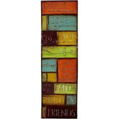 """Inspirations 30 1/2"""" High License Plate Metal Wall Art - #X3548 ($30) ❤ liked on Polyvore"""
